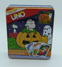 Peanuts The Great Pumpkin Charlie Brown Halloween UNO Collectable Tin Card Game