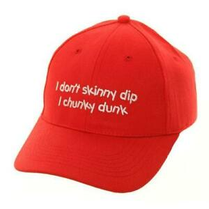 "Novelty Baseball Caps "" I Don't Skinny Dip I Chunky Dunk, Ideal Gift"