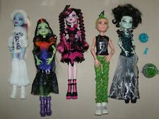 Monster High Lot  of 5 Dolls - Abbey, Casta, Draculaura, Duece, and Frankie