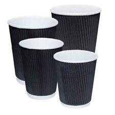 Disposable Coffee Cups Triple Wall 4Oz 8Oz 12Oz 16Oz W/Lids Takeaway Cups Bulk