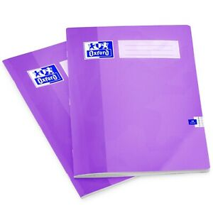 Oxford A4 School Exercise Maths Book - 5mm Squares - 48 Pages - Purple - 2 Pack