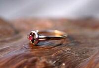 ausgefallener Ring 925er Sterling Silber mit kleinem Rubin Unikat Silberschmiede