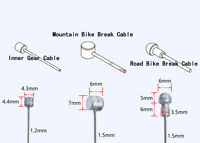 Jagwire  Road or Mountain bike inner Gear & brake cables & Crimp Ends