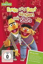 SESAMSTRAßE: ERNIE UND BERT SINGEN MIT STARS  (LENA/GRÖNEMEYER/+) 2 DVD+CD NEU