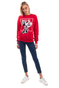 RRP €160 DB SOUL Sweatshirt Size S Houndstooth Minnie Mouse Front Made in Italy