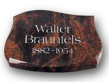 Liegestein Grabplatte  LP-003 Inkl. Inschrift 40x30x5cm Urnengrab Granit Indora