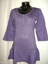 "TRANSAT BOUTIQUE TUNIQUE VOLANTS VIOLET ""PRINCESS INDIE"" TAILLE S = 38 - PROMO!"