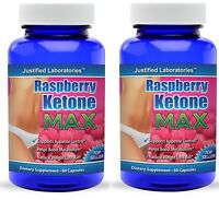 Pure Raspberry Ketone Lean Max Advanced 1200mg Diet Weight Loss 2 Pack