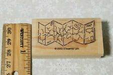"USED Stampin' Up! Stamp- map-  ""Travel time"""