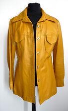 Vintage Lederjacke Gelb Leder Jacke Leather jacket yellow Echtleder S 70s 70er