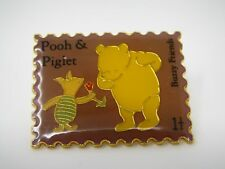 Vintage Collectible Pin: Pooh & Piglet Buzzy Friends Stamp Design