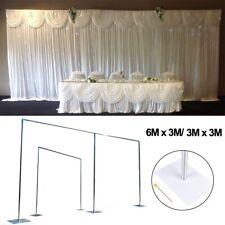 20ft/ 10ft Telescopic Economy Wedding Backdrop Stand Curtain Fram & Drape Decors