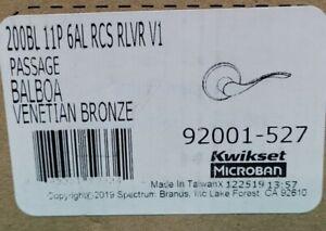 KWIKSET 200BL 11P 6AL RCS RLVR V1 PASSAGE BALBOA VENETIAN BRONZE 92001-527