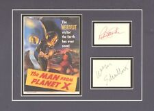 THE MAN FROM PLANET X-SIGNED-ROBERT CLARKE & WIILIAM SCHALLERT- PICTURE DISPLAY