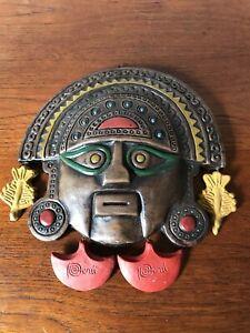 Vintage Pottery Peruvian Traditional Mask Art Hand Made Peru