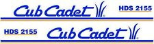 CUB CADET HDS 2155 HOOD DECAL SET