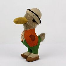 Vintage Mohair Duck Stuffed Animal - Felt Clothes - University Mascot? -  VR
