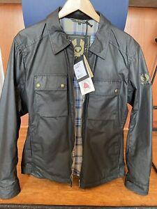 NWT Belstaff  DUNSTALL WAXED zip  COTTON JACKET, XL, Black