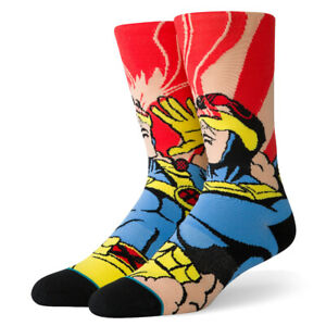 "Stance ""Xmen Cyclops"" Classic Crew Socks (Magenta) Men's Graphic Print Sock"