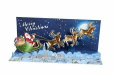 NIP Up With Paper Pop-Up Panoramic Sound Christmas Card - Moonlight Sleigh Ride