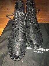SAINT LAURENT Lolita Lace-Up Boots EU39