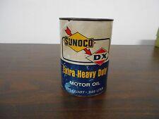 SUNOCO DX EXTRA HEAVY DUTY MOTOR OIL  1 QT FULL CARDBOARD CAN
