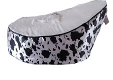 White Baby infant Bean Bag Snuggle Bed Seat Snuggle 2 upper layer No Filling
