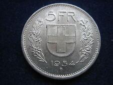 "MDS Svizzera 5 Franchi 1954 B ""Confoederatio Helvetica"", Argento #1"