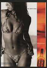 2001 CHIVAS REGAL Scotch Whisky - Sexy Woman - YES, GOD IS A MAN - VINTAGE AD