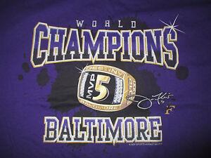 Super Bowl MVP JOE FLACCO No. 5 BALTIMORE RAVENS World Champions (XL) T-Shirt