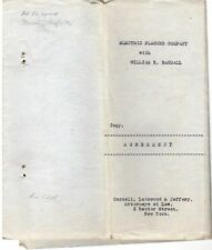 0329 William H. Randall, Herbert K. Wood 1917 papers, Electric Flasher Co. bells
