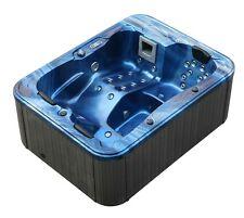 Minipiscina doppia pompa idromassaggio 210x160 cm con 33 getti per 3 persone blu