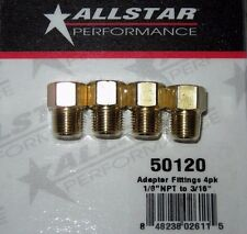 "Brake Adapter Inverted Flare Fittings 1/8""-27 NPT To 3/16"" Straight 4pk ALL50120"