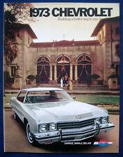 Prospekt brochure 1973 Chevrolet Chevy Caprice * Impala * Bel Air (USA)