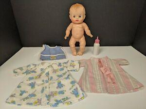 Vintage Sun Rubber Sun Babe So Wee Doll 3 Outfits Bottle 🍼 1957 Ruth E Newton
