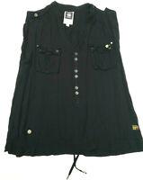 Womens G-Star Shirt 'CRUSADER OFFICER SHIRT WMN S/LESS' Black Size M