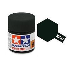 Tamiya Colore acrilico VERDE SCURO OPACO plastica metallo TAMIYA XF-27 10ml