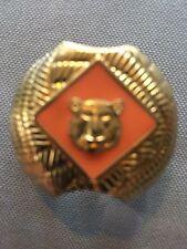 Boy Scout Neckerchief Slide Clip Tiger orange Scarf Metal
