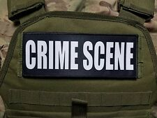"3x8"" CRIME SCENE Plate Carrier Morale RAID Patch SWAT TROOPER AGENT Forensics"