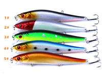 Minnow Fishing Lures Bass Crankbait 5 pcs 4# Hooks Tackle Crankbaits 14cm/23g