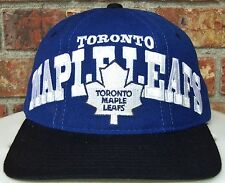 VINTAGE 90's TORONTO MAPLE LEAFS NHL STARTER TRI POWER 3 WOOL SNAPBACK HAT RARE!