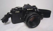 NIKON FE2 35mm SLR FILM CAMERA body w/ AF NIKKOR 50mm Lens w/ strap *