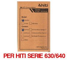 Hiti Carta 10x15 per stampanti serie 630 /640 50 fogli (NON COMPATIBILE S420)