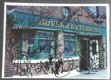 CORONATION STREET Cast Signed Photo of The ROVERS RETURN INN  (Old Granada Tour)