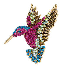 Vintage Crystal Rhinestone Bird Brooch Suit Collar Brooch Pin Women Jewelry S6