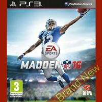 MADDEN NFL 16 PlayStation 3 PS3 ~ Brand New & Sealed! UK Stock