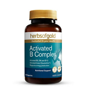 Activated B Complex by Herbs of Gold 60 caps