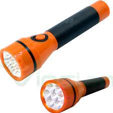 Torcia 7 LED luce ricaricabile portatile luminosa casa pila DPTorch ARANCIONE