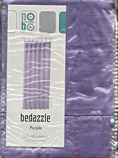 Bedazzle Purple Tab Top Semi Sheer 100 Polyester Window Curtain With Sequinned