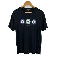 Ben Sherman Mens T-Shirt Size Extra Large XL Slim Black Short Sleeve Round Neck